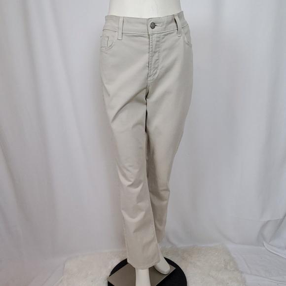 NYDJ Denim - NYDJ Tan Denim Twill Straight Leg Jeans